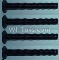 Wltoys 10428-B Parts-Flat head inner hexagon Screws-M4X32-(4pcs),Wltoys 10428-B Rc Car Parts,High speed 1:10 Scale 4wd,10428-B Electric Power On Road Drift Racing Truck Car Parts