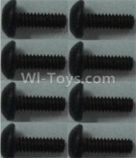 Wltoys 10428-B Parts-Pan head inner hexagon Screws-M2X6-(8pcs),Wltoys 10428-B Rc Car Parts,High speed 1:10 Scale 4wd,10428-B Electric Power On Road Drift Racing Truck Car Parts