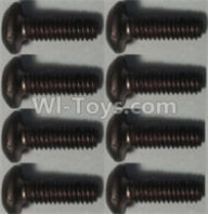 Wltoys 10428-B Parts-Pan head inner hexagon Screws-M2.5X6-(8pcs),Wltoys 10428-B Rc Car Parts,High speed 1:10 Scale 4wd,10428-B Electric Power On Road Drift Racing Truck Car Parts