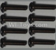 Wltoys 10428-B Parts-Pan head inner hexagon Screws-M2.5X12-(8pcs),Wltoys 10428-B Rc Car Parts,High speed 1:10 Scale 4wd,10428-B Electric Power On Road Drift Racing Truck Car Parts