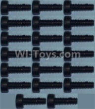 Wltoys 10428-B Parts-Cup head inner hexagon Screws M2X6-(20pcs),Wltoys 10428-B Rc Car Parts,High speed 1:10 Scale 4wd,10428-B Electric Power On Road Drift Racing Truck Car Parts