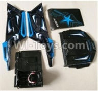Wltoys 10428-B Parts-0315 Car shell(Not include the Rollcage),Wltoys 10428-B Rc Car Parts,High speed 1:10 Scale 4wd,10428-B Electric Power On Road Drift Racing Truck Car Parts