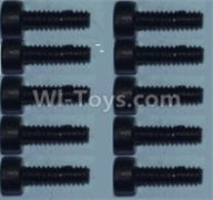 Wltoys 10428-B Parts-0334 Cup head inner hexagon Screws-M2X8-(10pcs),Wltoys 10428-B Rc Car Parts,High speed 1:10 Scale 4wd,10428-B Electric Power On Road Drift Racing Truck Car Parts