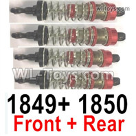 Wltoys 124016 Parts Front and Rear Shock Absorber,4pcs. 124016.1849+124016.1850.