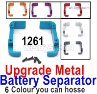 Wltoys 124016 Upgrade Metal Battery Separator group Parts. 124016.1261. 3 Colors you can choose.