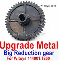 Wltoys 124016 Upgrade Parts Metal Steel Reduction gear. For Wltoys 124016.1260. It is perfectly suitable for the 124016 RC Racing Car.