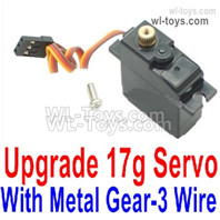Wltoys 124016 Upgrade Parts Metal Servo. The Gear is made of Metal Material.,The Torque is 17g with 3 Wire.