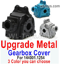 Wltoys 124016 Upgrade Parts Metal Gearbox Cover for the Wltoys 124016.1254. It Includes 3 colors you can choose.