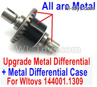 Wltoys 124016 Upgrade Parts Metal Steel Differential unit Parts With the Metal Differential Case. 124016.1309