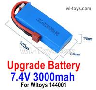 Wltoys 124016 Upgrade Parts 3000mah Lipo Battery Packs. Run More time and More Power.