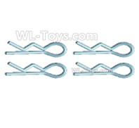 Wltoys 124019 Parts-R-Clips, Pin, R-Shape Fixed Pin for the Body shell cover(4pcs)-18428.0441