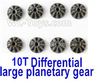 Wltoys 124019 Parts-Metal 10T Differential large planetary gear(8pcs)-(Hardware)-124019.1271