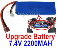 Wltoys 124019 Upgrade Parts-Upgrade Battery Packs-7.4V 2200mah 25C Battery-1pcs-100X33X15mm-115.5g