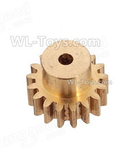 Wltoys 124019 Parts-Copper motor Gear(1pcs)-0.7 Modulus-27 Teeth