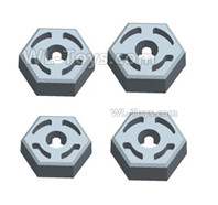 Wltoys 124018 Parts-Hex wheel seat assembly(4pcs)-124018.1266