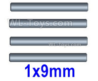 Wltoys 124019 Parts Suspension axis optical axis. 1X9mm. 124019.1275. Total 4pcs.