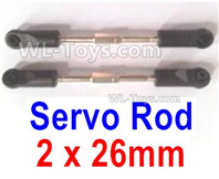 Wltoys 124019 Parts Servo Rod(2pcs)-2x26-124019.1287