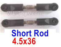 Wltoys 124019 Parts Short rod assembly(2pcs)-4.5x36-124019.1288