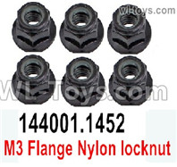 Wltoys 124019 Parts Flange nut, Total 6pcs. 124019.1452.