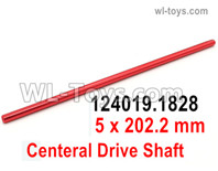 Wltoys 124019 Parts Central transfer shaft. 5x202.2mm. 124019.1828.