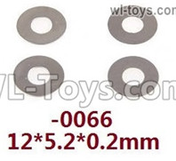 Wltoys 124018 Parts Flat washers. 12428.0066. 12X5.2X0.2mm. total 4pcs.