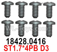 Wltoys 124019 Screws Parts 18428.0416 Screws. ST1.7x4PB D3.