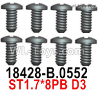 Wltoys 124019 Screws Parts 18428-B.0552 Screws. ST1.7x8PB D3.