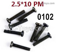 Wltoys 124019 Screws Parts 12428.0102 Screws. M2.5X10 PM.