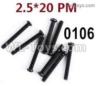 Wltoys 124019 Screws Parts 12428.0106 Screws. M2.5X20 PM.