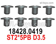 Wltoys 124019 Screws Parts 18428.0419 Screws. ST2x5PB D3.5.