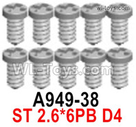 Wltoys 124019 Screws Parts A949-38 Screws. ST 2.6x6PB D4.