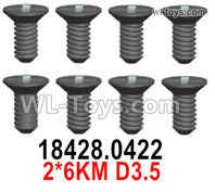 Wltoys 124019 Screws 18428.0422 Screws. 2x6KM D3.5.