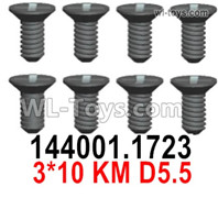 Wltoys 124019 Screws Parts 1723 Screws. 3x10KM D5.5.