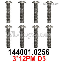 Wltoys 124019 Screws Parts 12401.0256 Screws. 3x12PM D5.