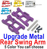 Wltoys 124018 Upgrade Parts-Upgrade Rear Metal Swing Arm-4 Color you can choose