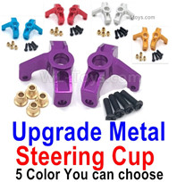 Wltoys 124018 Upgrade Parts-Upgrade Metal Steering Cup-2pcs-4 Color you can choose