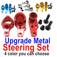 Wltoys 124018 Upgrade Parts-Upgrade Metal Steering Set-4 Color you can choose