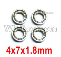 Wltoys 124019 Parts-Ball bearing 4X7X1.8mm-4pcs-124019.1296
