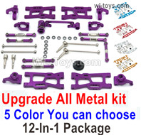 Wltoys 124019 Upgrade ALL Metal Kit A. All 12-In-1 Package