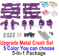 Wltoys 124019 Upgrade Metal kit cash set 2. All 5-In-1 Package.