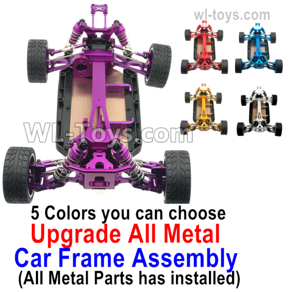 Wltoys 124019 Upgrade All Metal Car Frame Assembly. All Metal parts has  installed. 5 Colors you can choose.