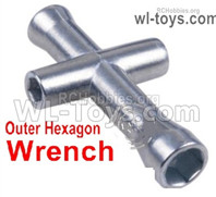 Wltoys 124019 Upgrade Parts Outer Hexagon Wrench For the Wheels