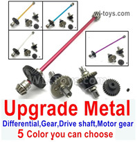 Wltoys 124019 Upgrade Parts Metal Steel Differential unit Parts + Steel Reduction gear Gear + Metal drive shaft + Steel Motor Gear.