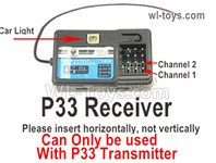 Wltoys 124019 Upgrade Parts P33 Receiver board. Can be used together with the P33 Transmitter or the Brushless system.