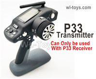 Wltoys 124019 Upgrade Parts P33 Transmitter. Can be used together with the P33 Receiver or the Brushless system.