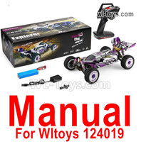 Wltoys 124019 Parts Manual Instruction. The words are in English.