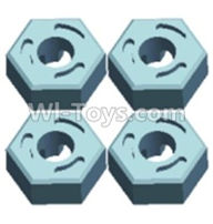Wltoys 12402 Car Parts-0214 Hexagonal round seat(4pcs),Wltoys 12402 RC Car Spare Parts Replacement Accessories,1:12 Scale 4wd,2.4G 12402 rc racing car Parts,On Road Drift Racing Truck Car Parts