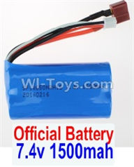 Wltoys 12402 Car Parts-Battery,7.4V 1500MAH-18650 Battery(1pcs),Wltoys 12402 RC Car Spare Parts Replacement Accessories,1:12 Scale 4wd,2.4G 12402 rc racing car Parts,On Road Drift Racing Truck Car Parts