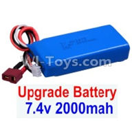 Wltoys 12402 Car Parts-Upgrade 7.4V 2000mah Battery(1pcs)-Size-80X35X19MM,Wltoys 12402 RC Car Spare Parts Replacement Accessories,1:12 Scale 4wd,2.4G 12402 rc racing car Parts,On Road Drift Racing Truck Car Parts