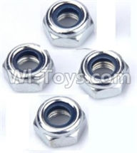 Wltoys 12402 Car Parts-0119 M4 Locknut(4pcs),Wltoys 12402 RC Car Spare Parts Replacement Accessories,1:12 Scale 4wd,2.4G 12402 rc racing car Parts,On Road Drift Racing Truck Car Parts